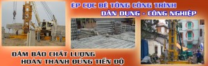 Dịch vụ ép cọc bê tông tại các quận trên địa bàn Hà Nội