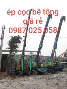Ép cọc bê tông nhà dân dụng hiện đại, nhanh chóng nhất Hà Nội