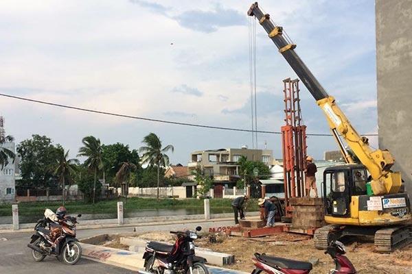thi công đóng cọc bê tông móng nhà