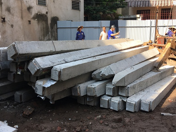 Cọc bê tông 250x250 sản xuất tại xưởng đảm bảo chất lượng
