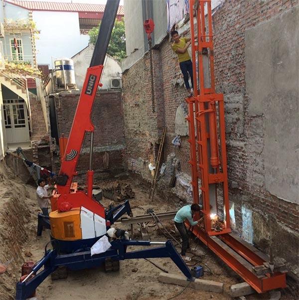 dịch vụ ép cọc bê tông nhà phố