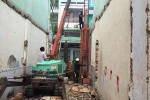 Những khó khăn khi thi công ép cọc bê tông nhà phố